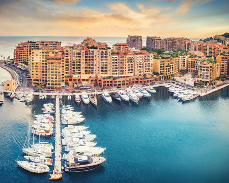 Luxury Monaco-Ville harbour of Monaco, Cote dAzur