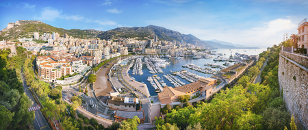 Monaco from above at sunrise