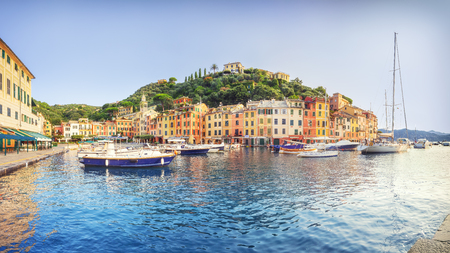 Panorama of Portofino in summer