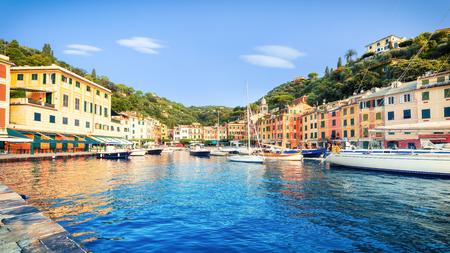 Panorama of Portofino in summer
