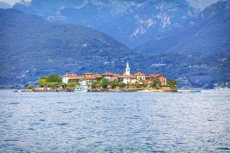 Panorama of Isola Bella island in summer