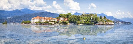 Isola Bella island on Maggiore Lake, Lombardy, Northern Italy Stock Photo