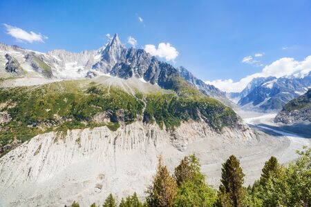 Traveling to beautiful French Alps in summer Banco de Imagens