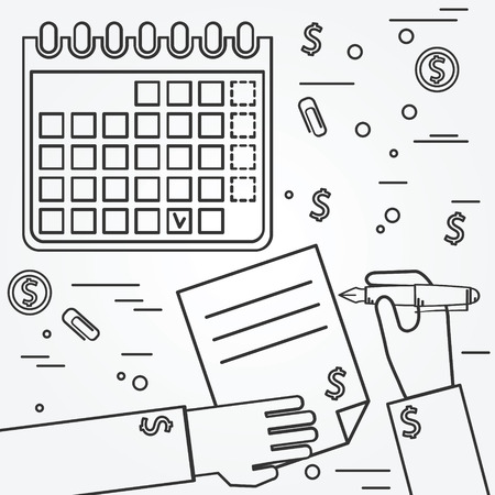 Business plan. Linea icona Brainstorm.Think. Archivio Fotografico - 48803145