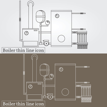 boiler: Boiler thin line design. Boiler pen Icon. Boiler Icon Vector. Boiler Icon Drawing. Boiler pen Icon Image. Boiler pen Icon Graphic. Boiler pen Icon Art. Think line icon.