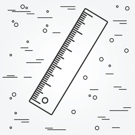 ruler: Ruler thin line design.Ruler pen Icon. Ruler Icon Vector. Ruler Icon Drawing.Ruler pen Icon Image.