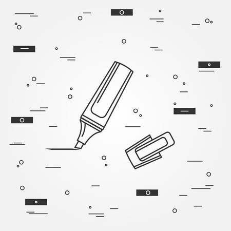 marker pen: Marker pen Icon. Marker pen Icon Vector.Marker pen Icon Drawing. Marker pen Image.  Think line icon modern minimalistic design. Illustration