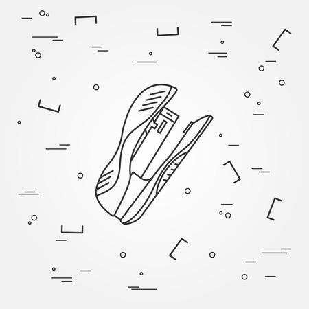 hole puncher: Stapler Icon. Stapler Icon Vector.Stapler Icon Drawing. Stapler Image.Think line icon modern minimalistic design. Illustration