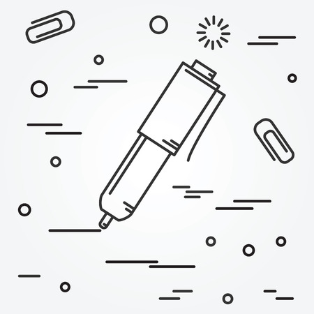 pen: Ball pen isolated Icon.Ball pen isolated Icon Vector. Ball pen isolated Icon Drawing. Ball pen isolated Icon Image. Ball pen isolated Icon Graphic. Ball pen isolated Icon Art. Think line icon.