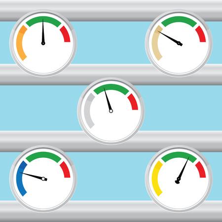 manometer: Manometer set. Illustration