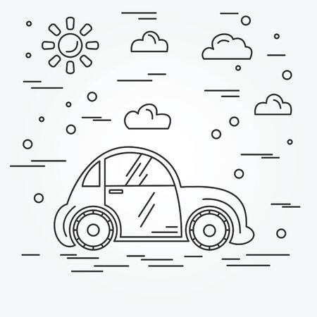 electric cars: Electric cars. Illustration