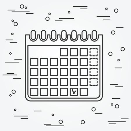 Icona del calendario. Icona del calendario .Calendar Icona Disegno. Icona del calendario immagine. Calendario Icona grafica. Icona del calendario Art. Archivio Fotografico - 48820546
