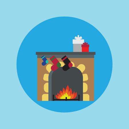 fireplace christmas: Fireplace Christmas.