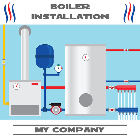 Boiler installation banner.