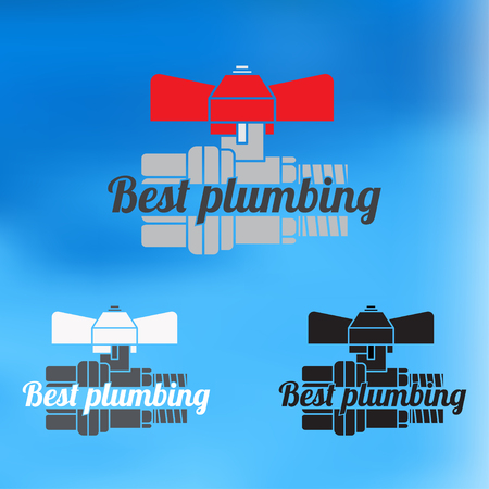 Best plumbing design for business sign. Vector icon. Illustration