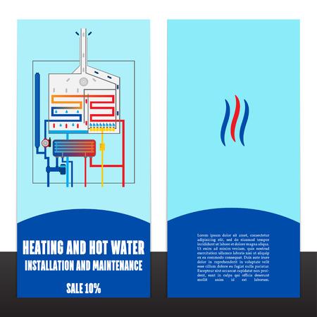 Boiler Corporate Identity Template-Design .Vector. Vektorgrafik