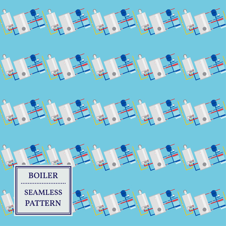 central heating: Boiler seamless pattern design. Vector. Illustration