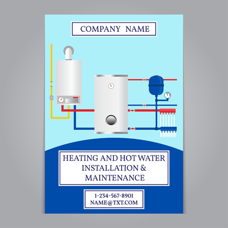 coldly: Corporate identity template design. Boiler installation company. Vector.
