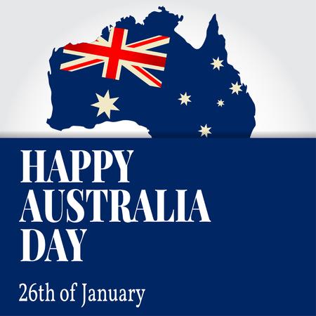 australian culture: Greeting card Happy Australia Day. National Celebration. Vector illustration. Illustration