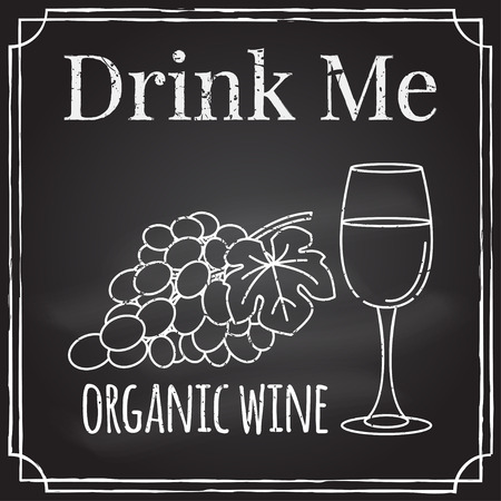drink me: Winery symbol. Vector illustration.