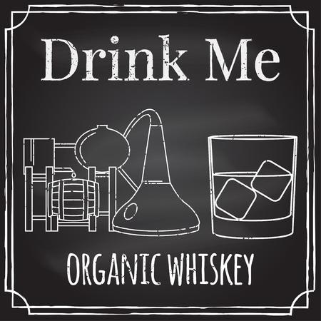 drink me: Distillery symbol. Vector illustration.