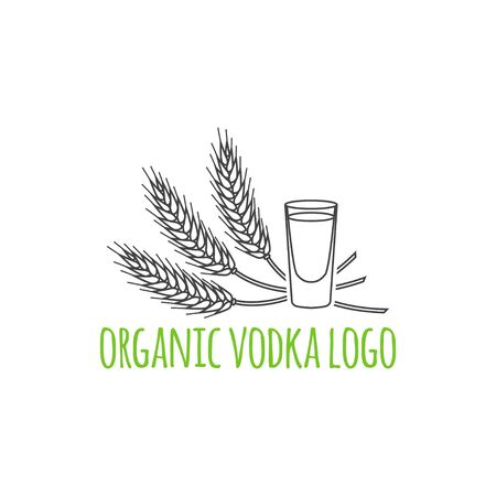 distillery: Distillery symbol. Vector illustration.  Thin line icon.