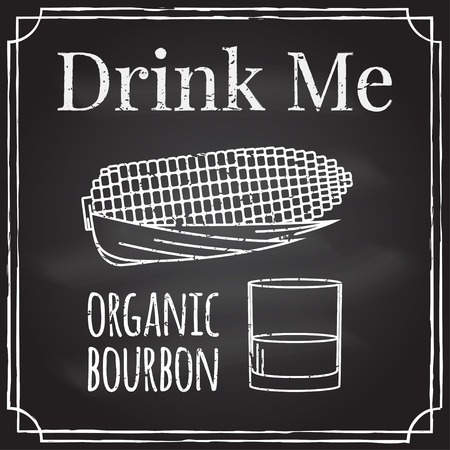 drink me: Drink me. Elements on the theme of the restaurant business. Illustration