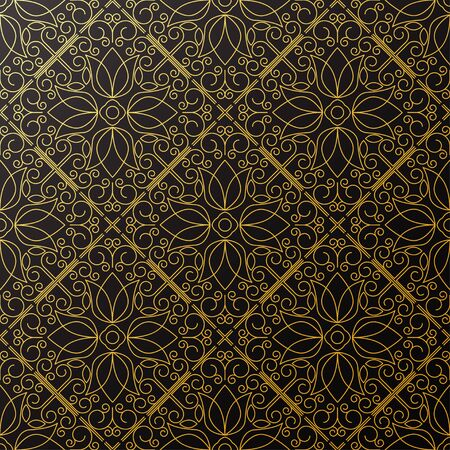 refine: Seamless texture with vintage geometric ornament. Vector thin line art pattern.