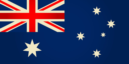 sidney: Australia flag.Vector illustration.