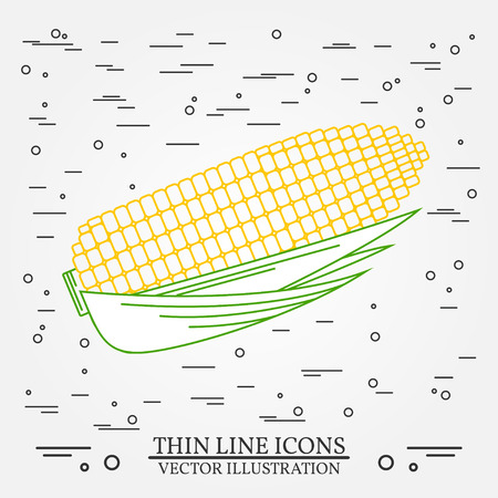 corn field: Corn  thin line design. Corn  pen Icon. Corn  pen Icon Vector. Corn  pen Icon Drawing. Corn  pen Icon Image.Corn  penl Icon Graphic. Corn  pen Icon Art. Thin line icon.