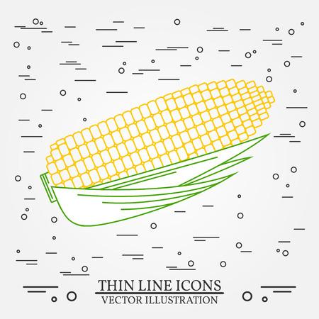 maiz: Maíz diseño de la forma. Icono de maíz pluma. El maíz de la pluma del vector del icono. Maíz Dibujo icono de la pluma. El maíz pluma Icono Image.Corn penl gráfica del icono. El maíz pluma Icono del arte. icono de la forma.