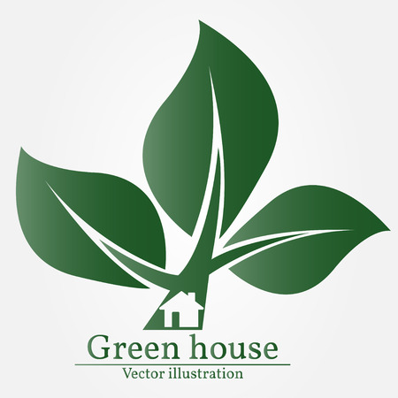 land development: Green house. Illustration