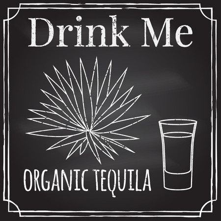 Drink me. Elements on the theme of the restaurant business. Illustration