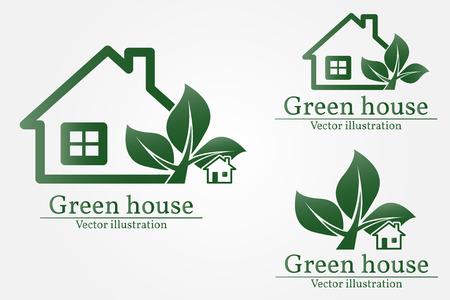 rural development: Green house. Illustration