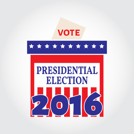 vote box: Vote box for presidential election. Vector illustration. Illustration