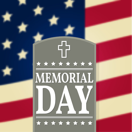 Happy Memorial Day background template. Happy Memorial Day poster. American flag. Patriotic banner. Vector illustration.  イラスト・ベクター素材