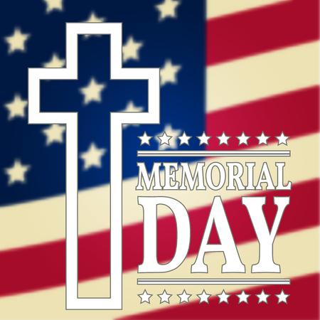 Gelukkig Memorial Day achtergrond sjabloon. Gelukkig poster Memorial Day. Amerikaanse vlag. Patriottische banner. Vector illustratie.