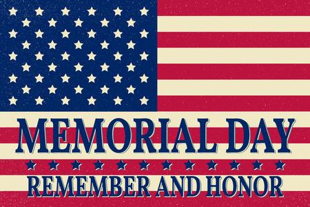 幸せな記念日の背景のテンプレート。幸せ記念日ポスター。アメリカの国旗の上に名誉し、覚えています。Pattic のバナーです。ベクトルの図。  イラスト・ベクター素材