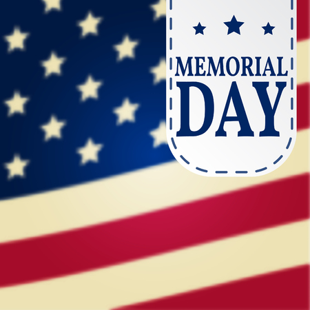 Happy Memorial Day background template. Illustration