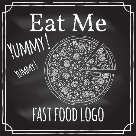 Eat me. Elements on the theme of the restaurant business.  イラスト・ベクター素材