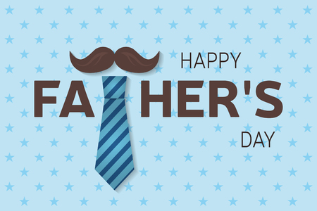 man and banner: Happy Fathers Day greeting card. Happy Fathers Day poster. Vector illustration.