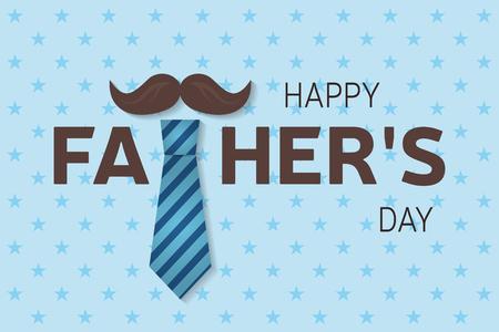 Kartka z życzeniami Szczęśliwego Ojca. Plakat z okazji Szczęśliwego Ojca. Ilustracji wektorowych. Ilustracje wektorowe