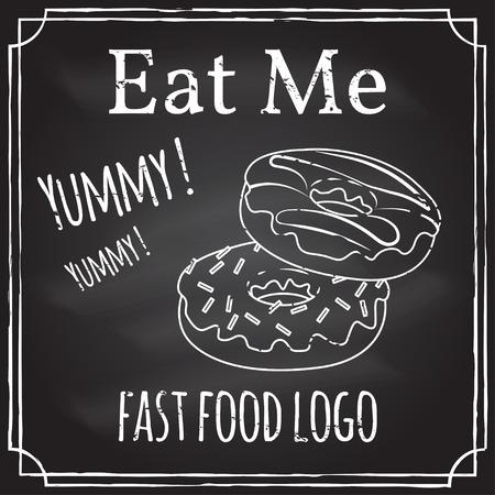 dessin noir et blanc: Mange moi. Éléments sur le thème de la restauration.
