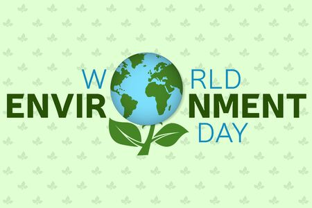 clear day: World environment day background template.