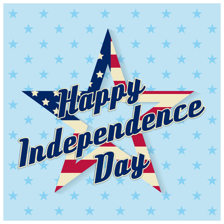 summer's: Independence day greeting card, flyer. Independence day poster. Patriotic banner for website template. Usable for 4th of July greeting card, banner, background, logo. Vector illustration.