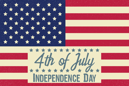 summer's: Fourth of July. Independence day greeting card, poster, flyer. Patriotic banner for website template. July 4th typographic design. Vector illustration. Illustration