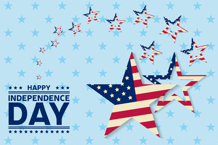 summer's: Independence day greeting card, flyer. Independence day poster. Patriotic banner for website template. Vector illustration.