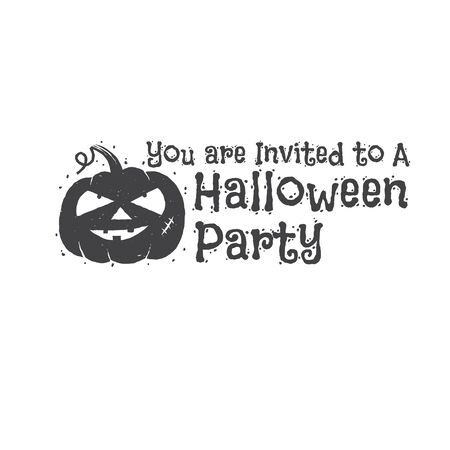 halloween tee shirt: Halloween vintage badge, emblem or label. Vector illustration. Invited to a Halloween party with pumpkin. For print on t shirt, tee, card, invitation, template.