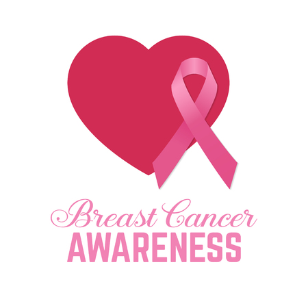 714ad3c5d  66036977 - Breast cancer awareness pink card. Vector illustration. For  poster