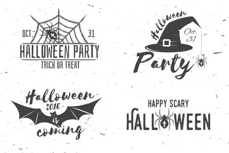 Habe Ein Gruseliges Halloween-Konzept. Retro- Ausweis Des Vektors ...